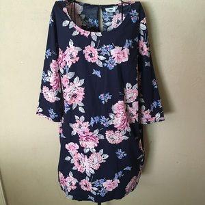 🎉Old Navy floral print sheath dress size XL🎉